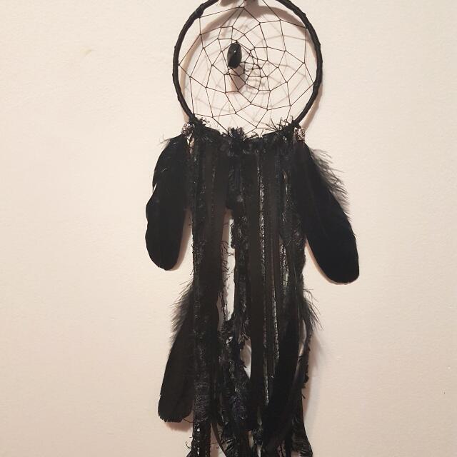 Black Hand-Made Dreamcatcher
