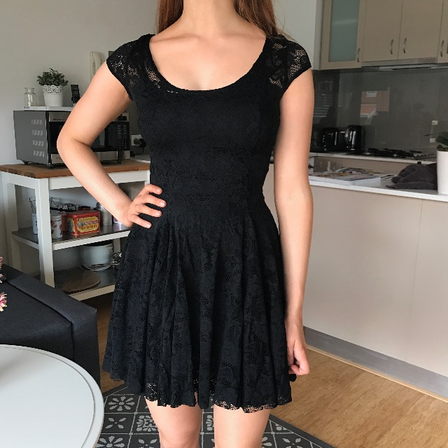 Black Milk XS Lace Evil Cheerleader Dress
