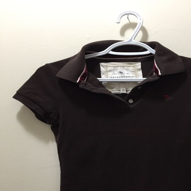 Brown Abercrombie & Fitch A&F Golf Shirt / Collared shirt