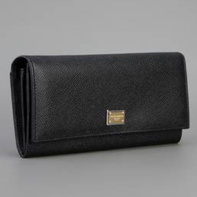Dolce & Gabbana Long Dauphine Fold Over Wallet