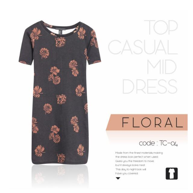 Dress Forever 21 Flower (Limited Stock)
