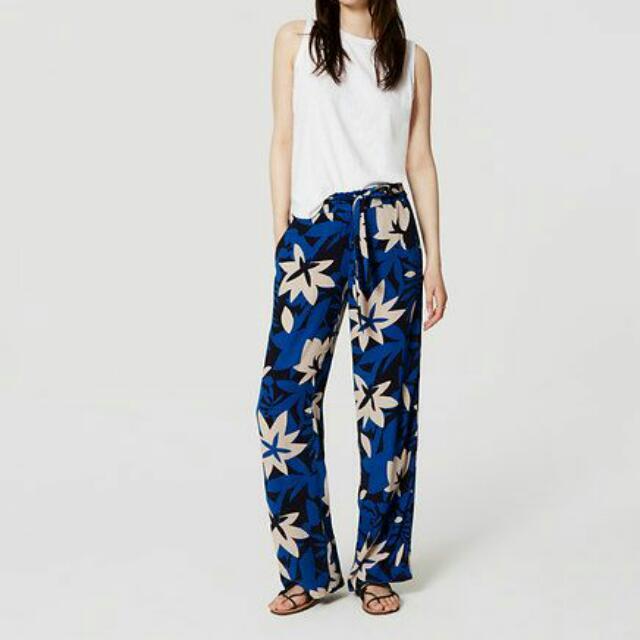Floral Tie Waist Pants