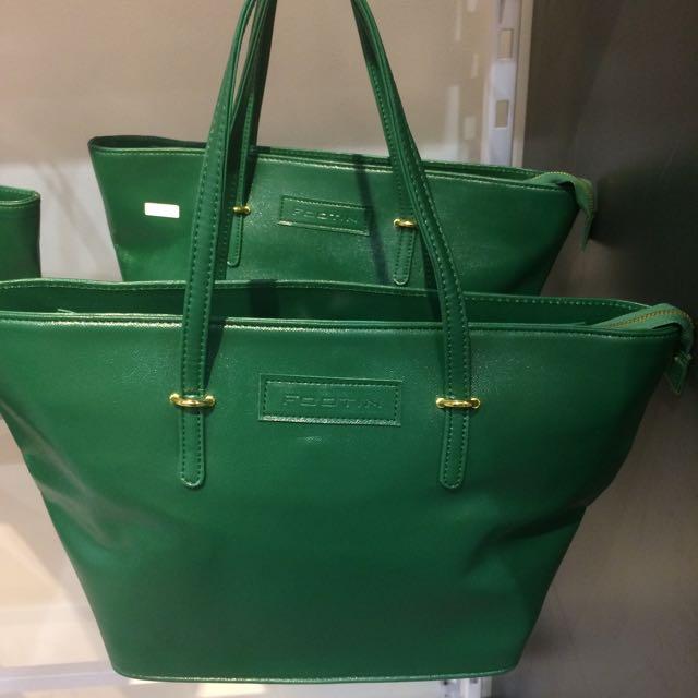 FOOT IN BAG, GREEN. REPRICE!!