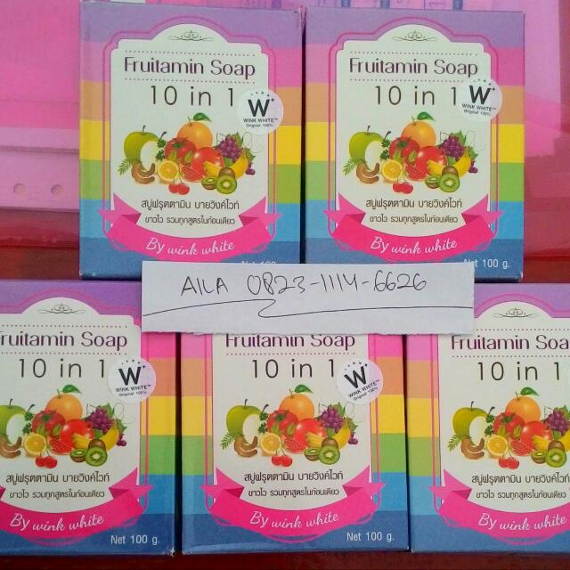 Fruitamin Soap 10 In 1 By Wink White Original 100%