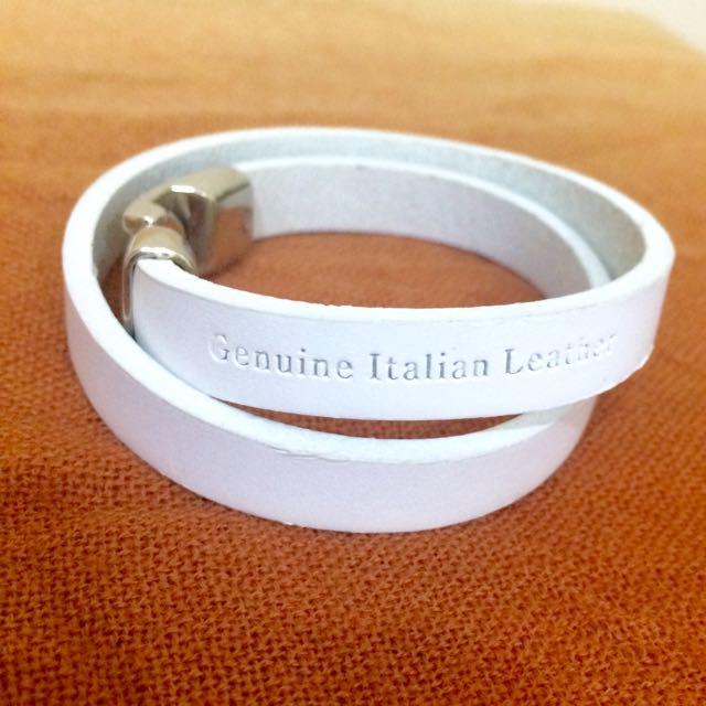 GENUINE ITALIAN LEATHER BRACELET