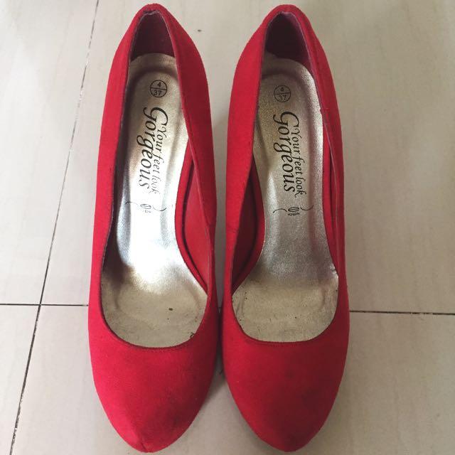 """Heels Red """"New look"""""""