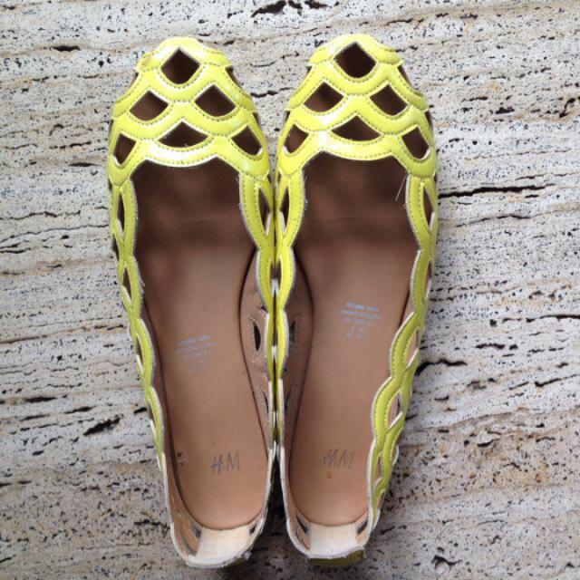 H&M Yellow Flats