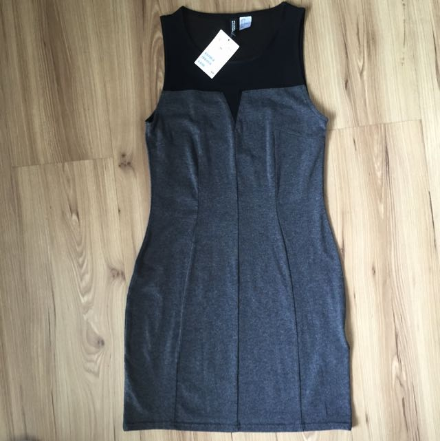 H&M Grey Fit Body Dress