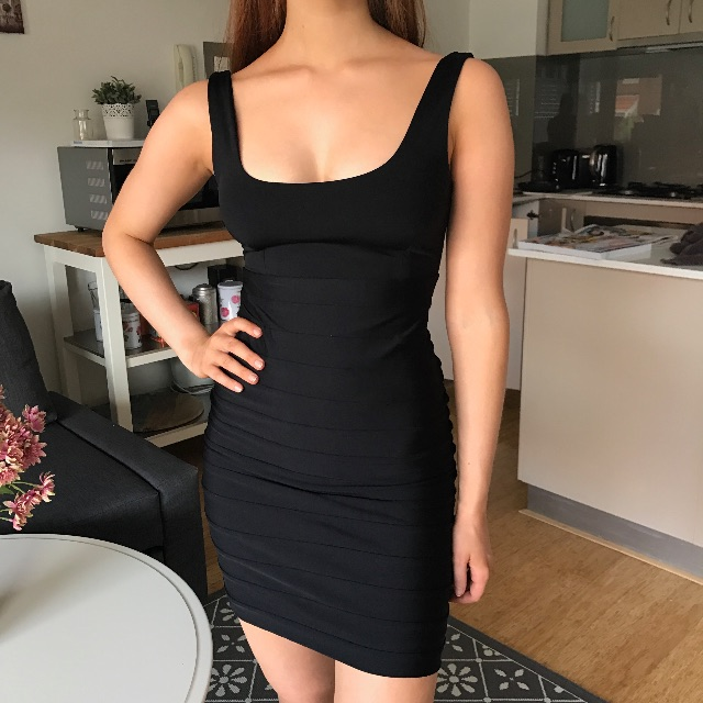 Kookai 1 Bodycon Black Dress