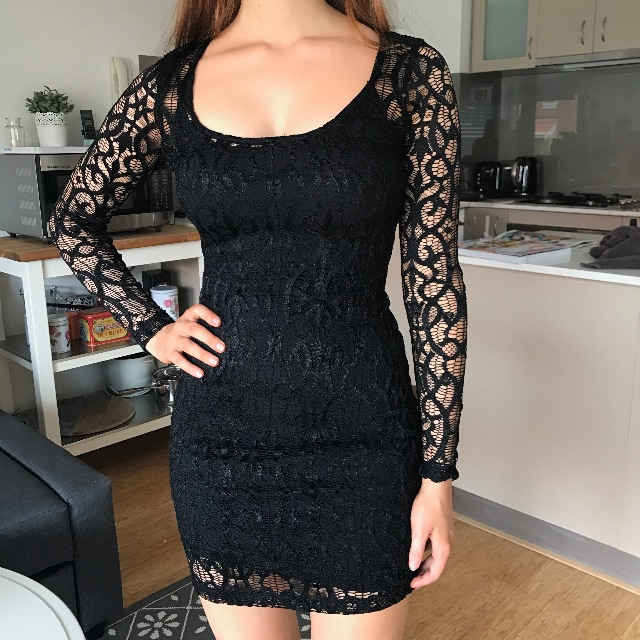Kookai 1 Lace Netting Dress