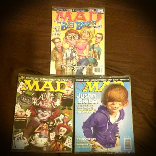 Lot Of 3 Australian MAD Magazines / Comics