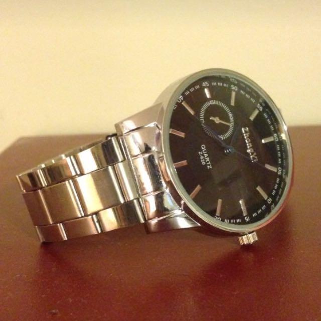Men's Silver Link Watch