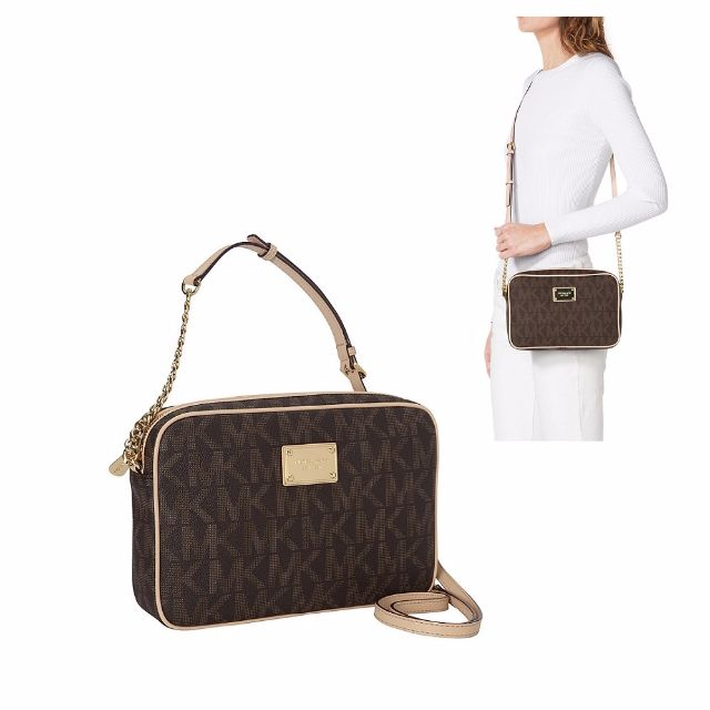4c8fb8b8bb7e Michael Kors Jet Set Large EW Logo Crossbody Bag, Women's Fashion, Bags &  Wallets on Carousell