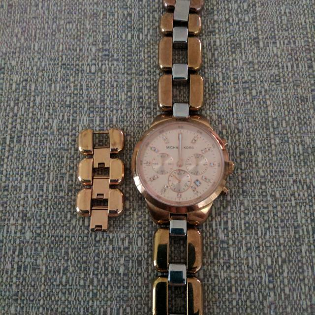 Michael Kors Rose Gold Watch And Stainless Steel