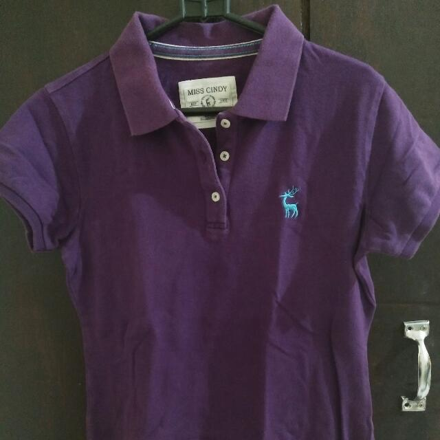 Miss Cindy Purple Polo Shirt