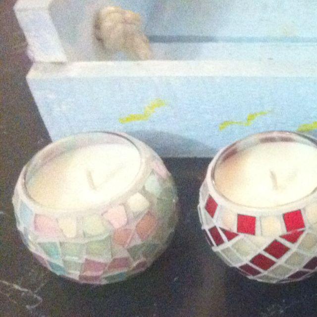 Mosaic Candles