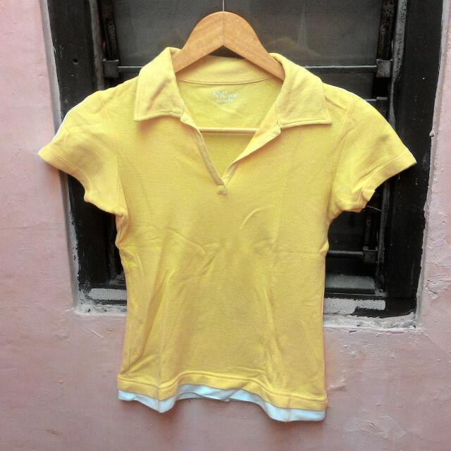 NYC Girl Yellow Shirt