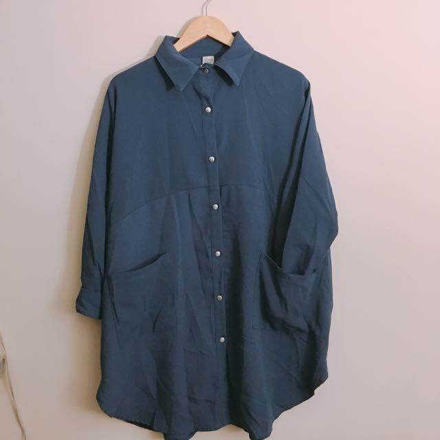 高質感厚磅數襯衫外套oversize