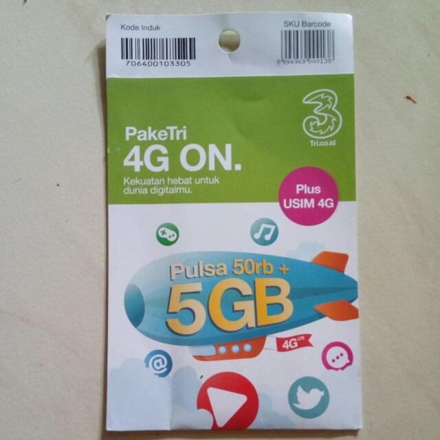 PakeTri 4G ON (Usim 4G)
