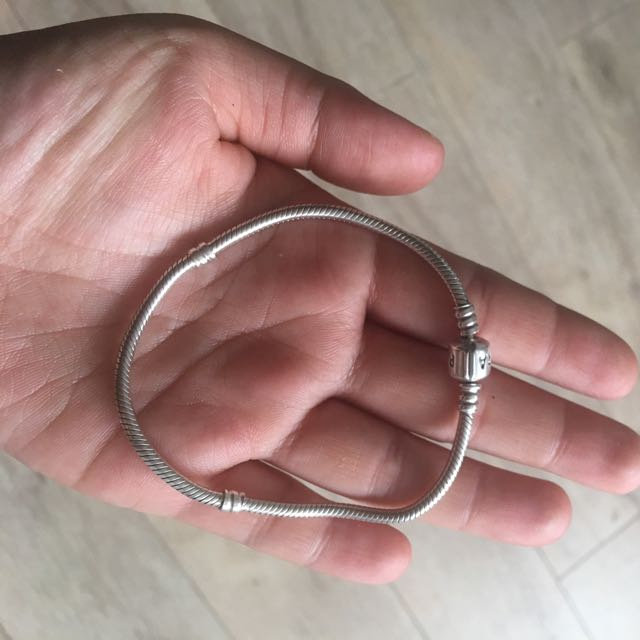 Pandora Silver Bracelet With Silver Clasp