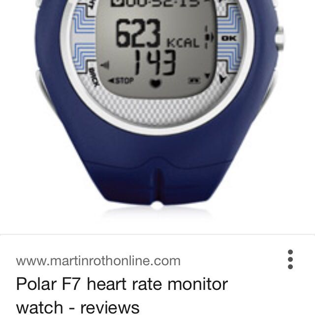 Polar F7 heart rate monitor patented smart watch