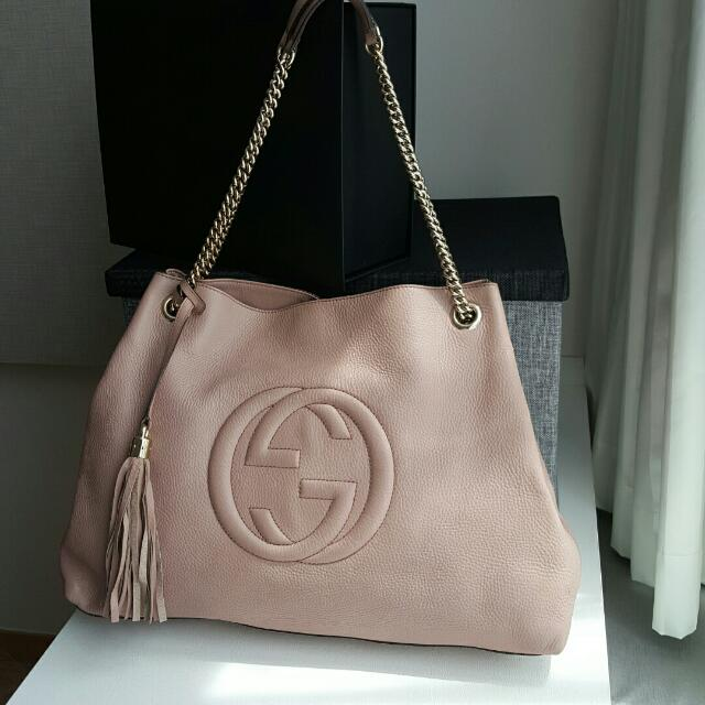 5b18056a928 Preloved Gucci Soho Leather Shoulder Bag