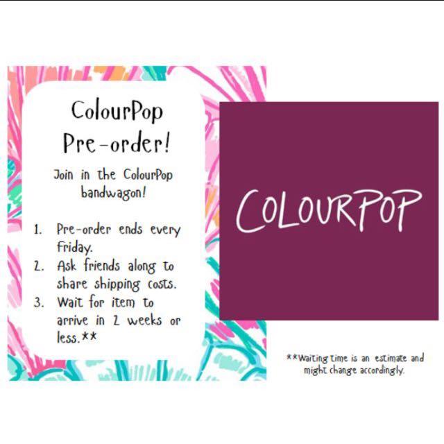 Pre-order Colourpop Stuffs