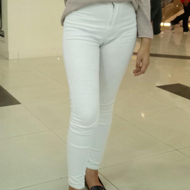 Punny White Jeans