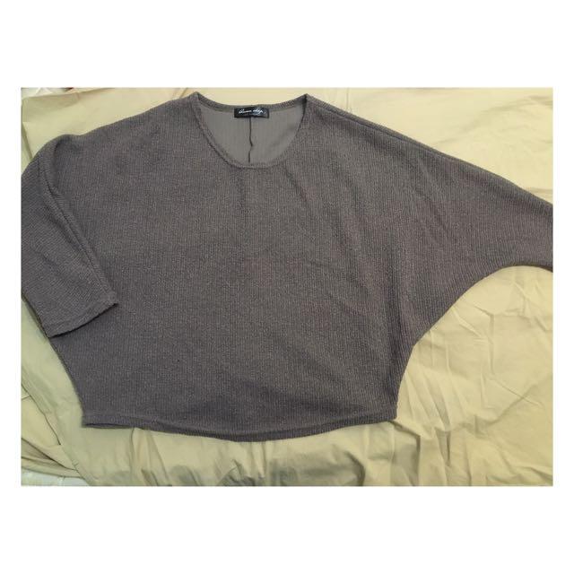 Queen Shop 飛鼠袖針織衣~ 含運