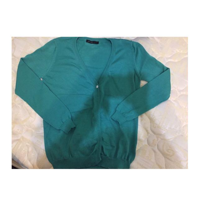 Queen Shop 蒂芬妮綠針織小外套 含運