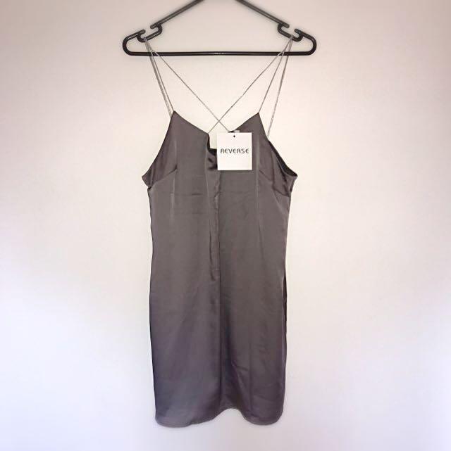 Reverse Silk Dress