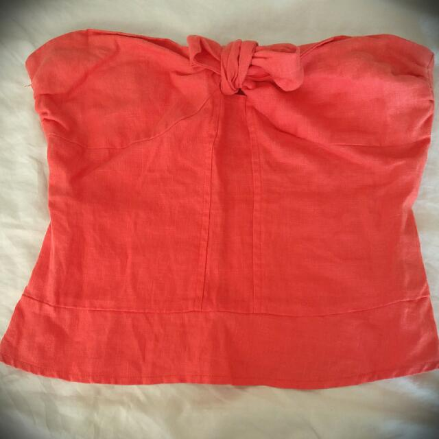 Strapless Coral Top By Lucca Couture