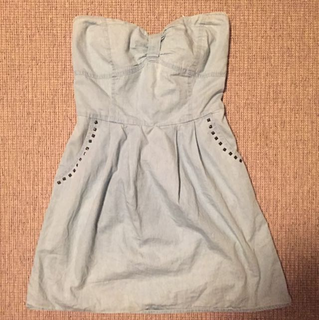 Strapless Jean Dress