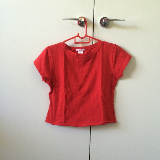 Supre cropped red t-shirt