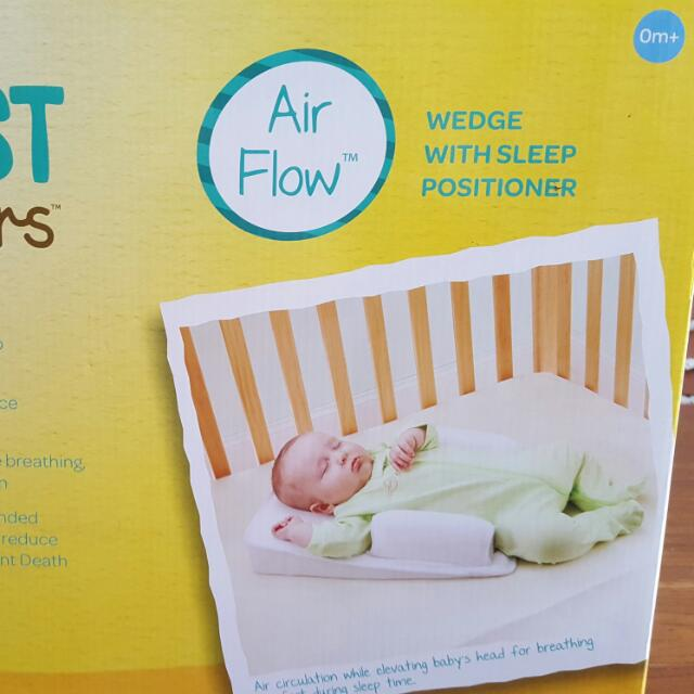 The First Years Airflow Wedge With Sleep Positioner (With Box - Never Used)
