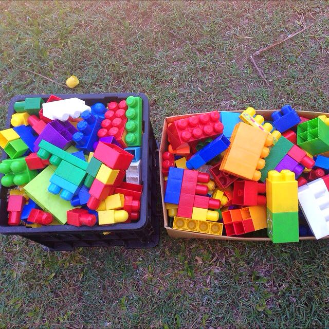 Two Boxes Of Jumbo Building Blocks