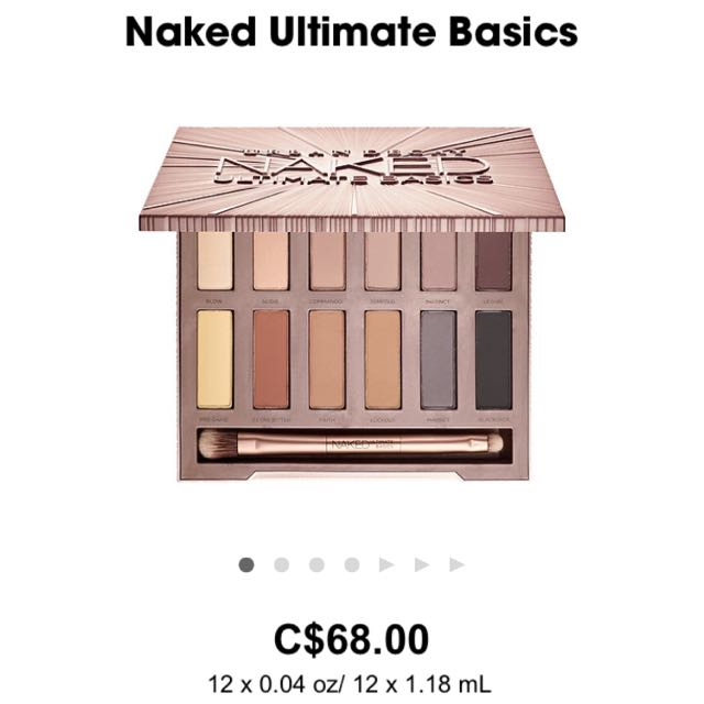 Urban Decay Naked Ultimate Basics Eyeshadow Palette BNIB