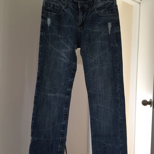 VERY RARE Designer Jeans 30 / 32 Great Design!