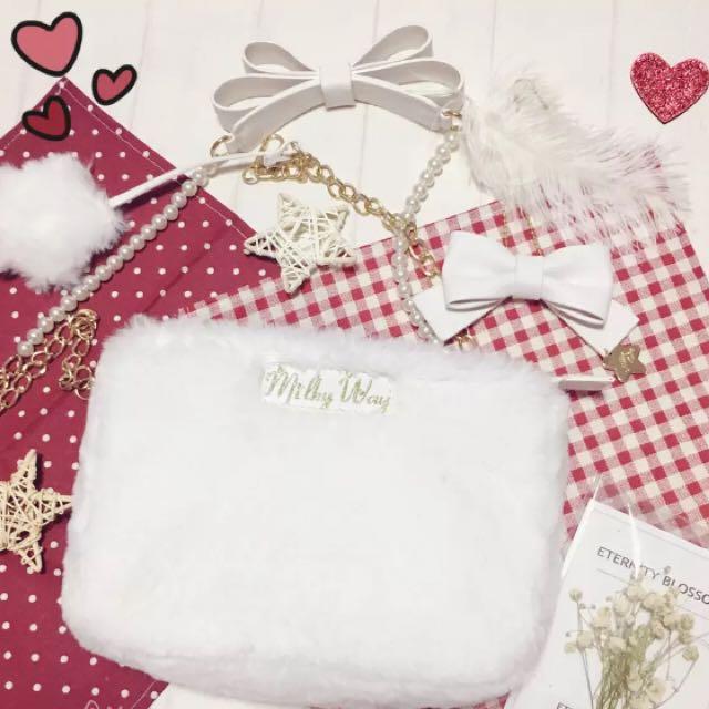 White Furly Handbag