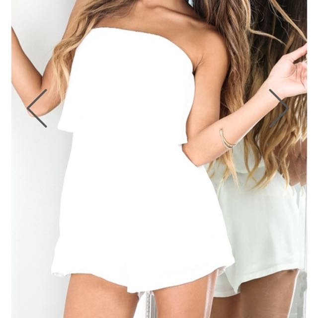 White Layered Playsuit