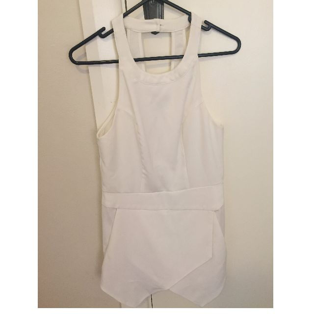 White Playsuit (size 8)