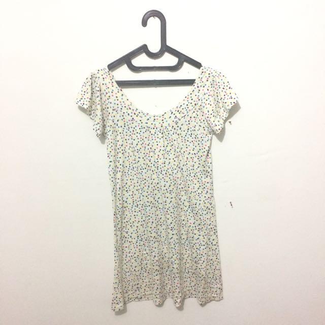 White Polkadot Dress