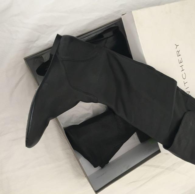 Women's Long Black Boots, Size 41