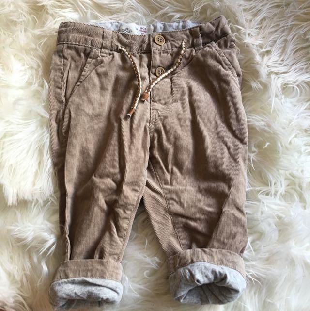 Zara Baby Corduroy Pants