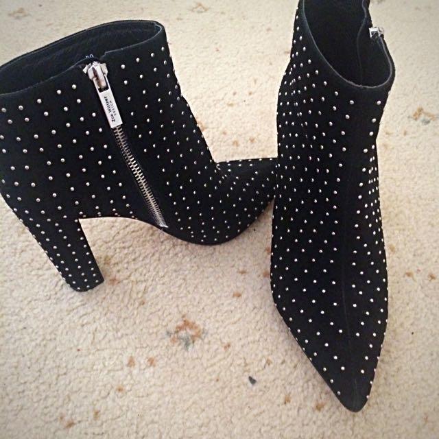 Zoe Wittner Studded Boots