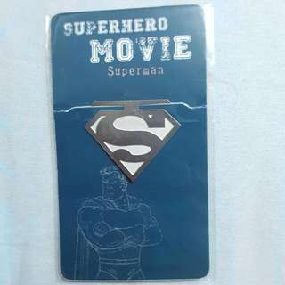 Superman Bookmark - Metal - Superhero Movie