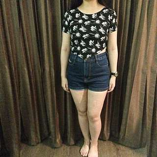Flower Navy Top