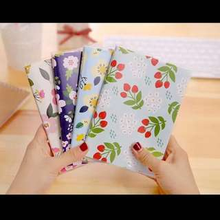 Floral Schedule/note Books