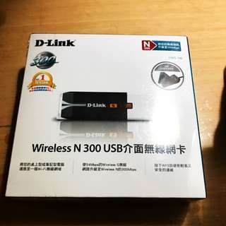 D-link 11n Wireless N300 USB 介面無線網卡