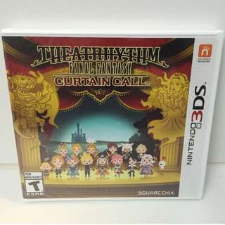 BRAND NEW SEALED Final Fantasy Theatrhythm Curtain Call for 3DS